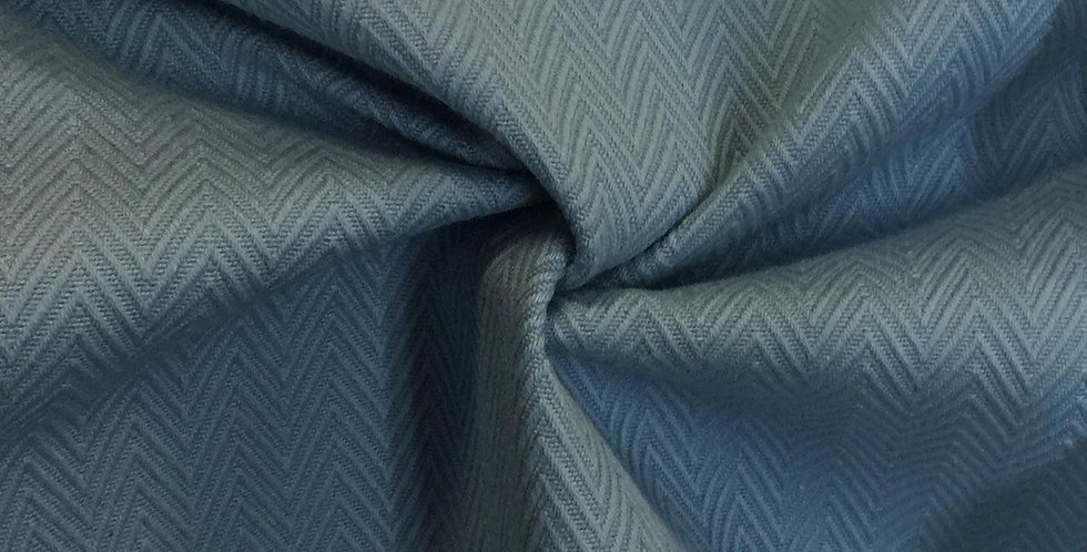 Blue Herringbone - Small Pattern - Textiles - Upholstery Fabric By The Yard - cu