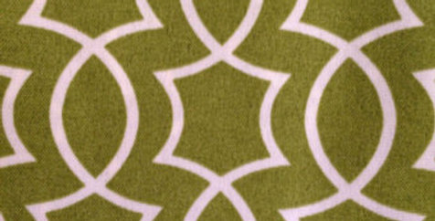 Green and White Geometric Outdoor Fabric
