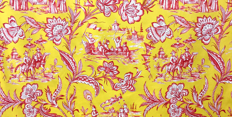 Red and Yellow Oriental Toile