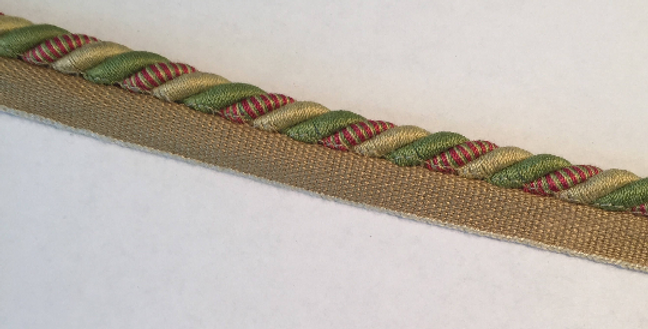 Gold - Red - Green Lip Cord