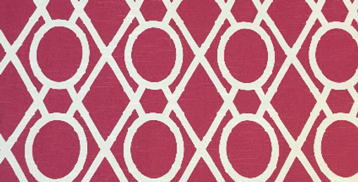 Raspberry Bamboo - Geometric