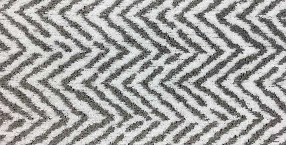 R/R Grey and White Herringbone