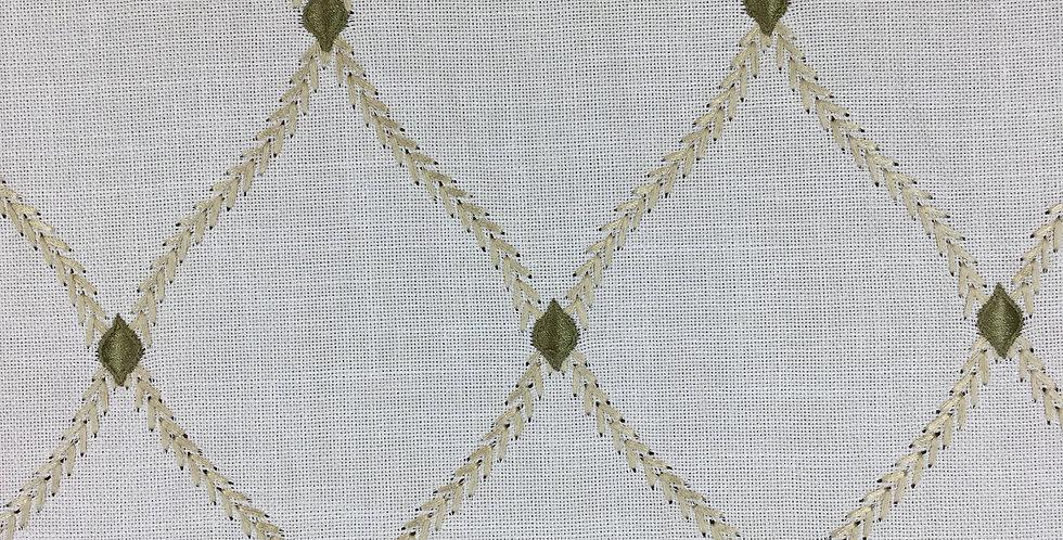 Green Embroidered Lattice