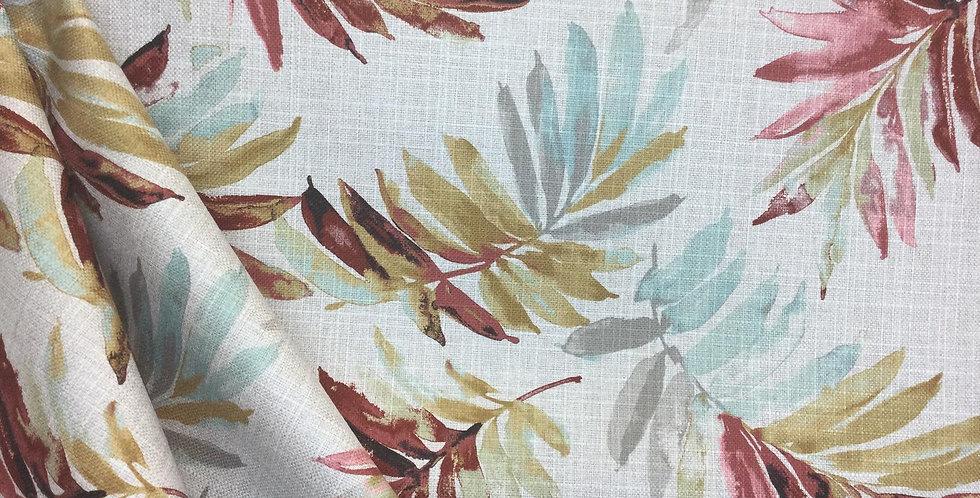 Tenille Vista Tropical Palm - Floral - Multicolored Palms - Aqua - Pink - Gray