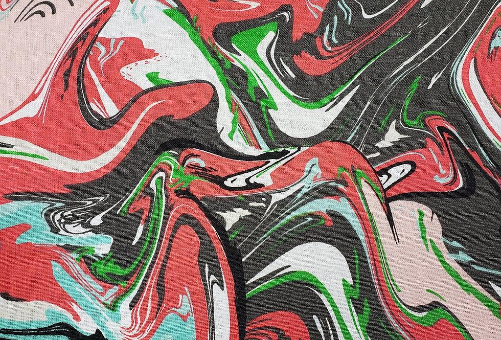 Hot Marble Swirl Fabric