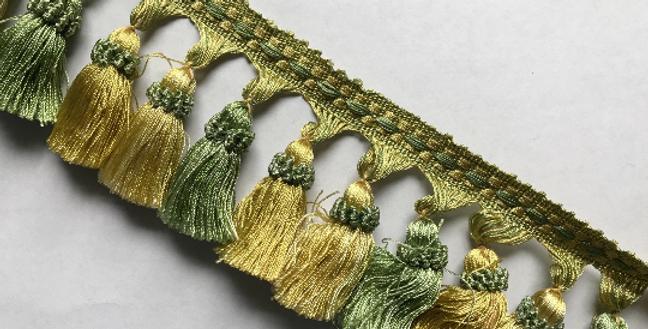 Green and Yellow Tassel Fringe