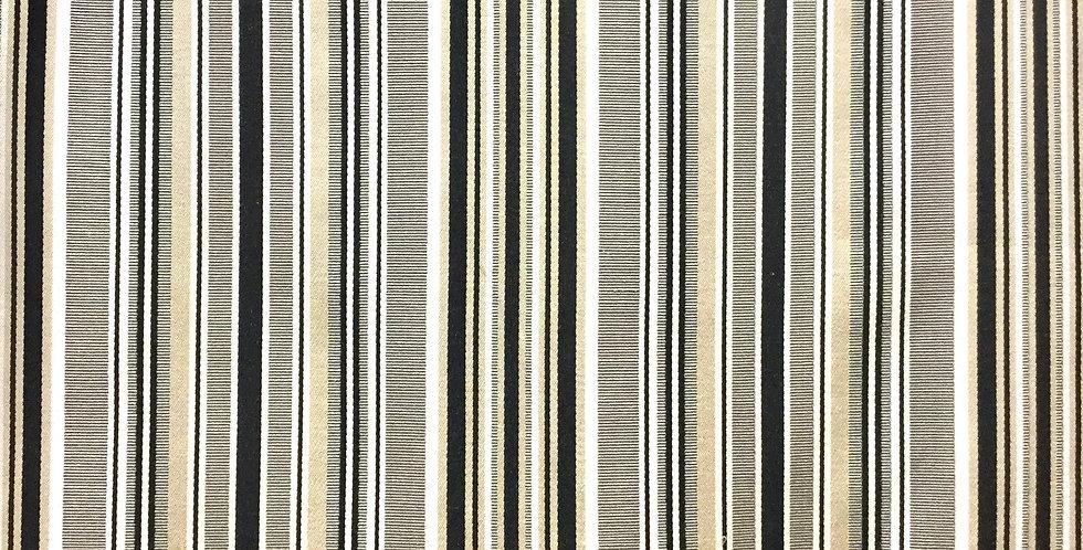 Taupe Black Cream and White Stripe