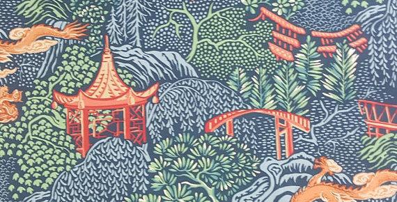 Asian - Chinoiserie - Pagoda - Dragon - Vern Yip - Trend