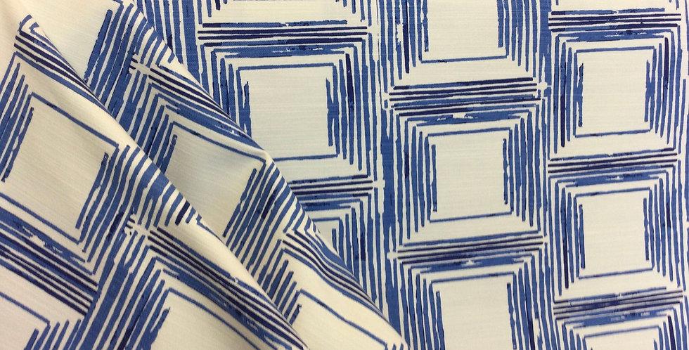 Klein Squares - Fabricut - Cobalt Blue - Accent Pillows