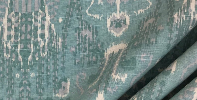 Bombay Mist - Ikat - Lacefield - Blue - Teal - Fabric by the Yard