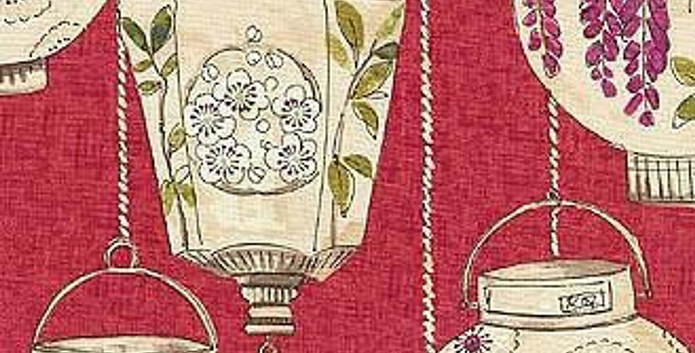 Asian Lanterns - Red - Chinoiserie - Lacquer