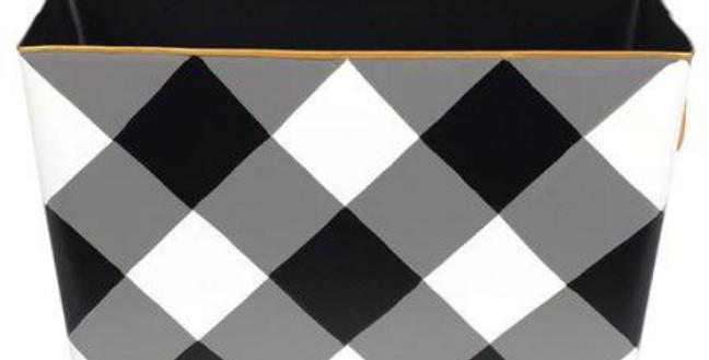 Black Check Box - Magazine Holder