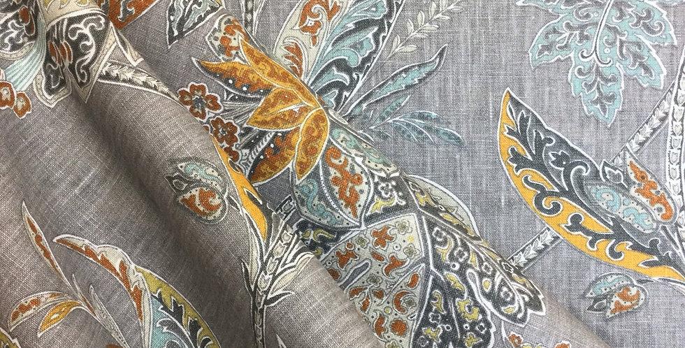 Kravet - Ishana Turmeric - Heirloom Collection - Floral Damask Fabric - Damask