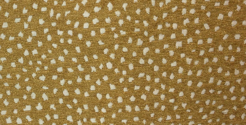 Galaxy Ochre - Dotted Fabric - Upholstery - Fabric by the Yard - Accent Pillows