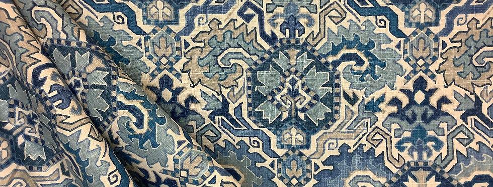 Madrid Blue Heaven - Southwestern Pattern - Tribal Blues - Geometric