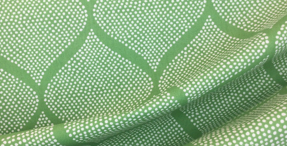 Mocamboo Grass - Madcap Cottage - Dotted - Ogee Curve Pattern - Calm Green