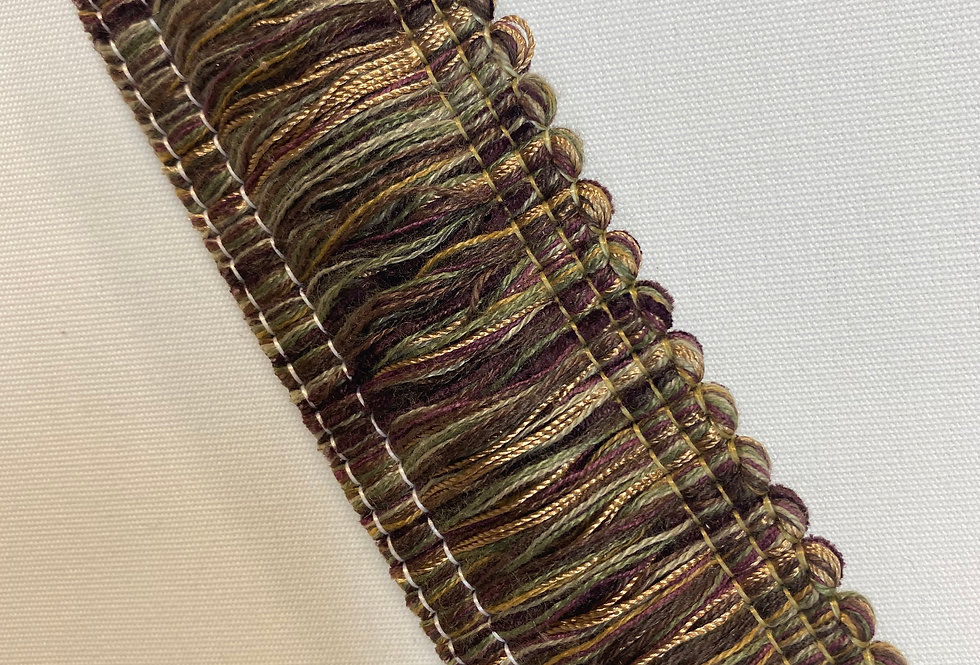 Sage and Purple Brush Fringe
