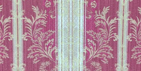 Red and Gold Stripe Damask