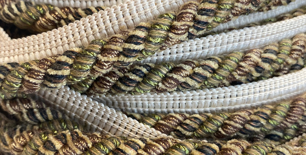 Gold, Green, and Taupe Lip Cord