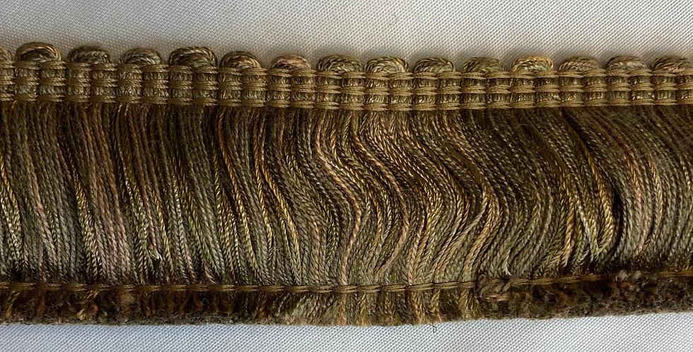 Sage Green and Gold Brush Fringe