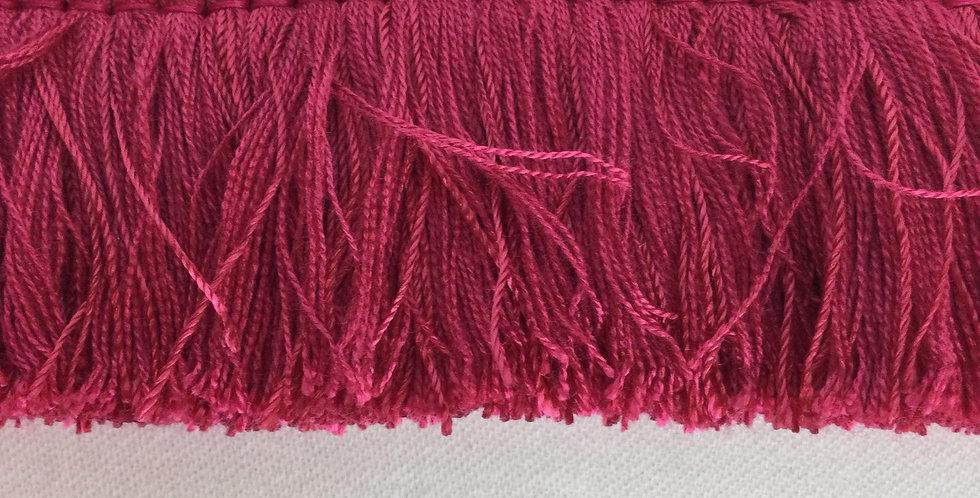 Hot Pink Brush Fringe - Lampshade edging - Pillow Edging - Embellishment - Brush