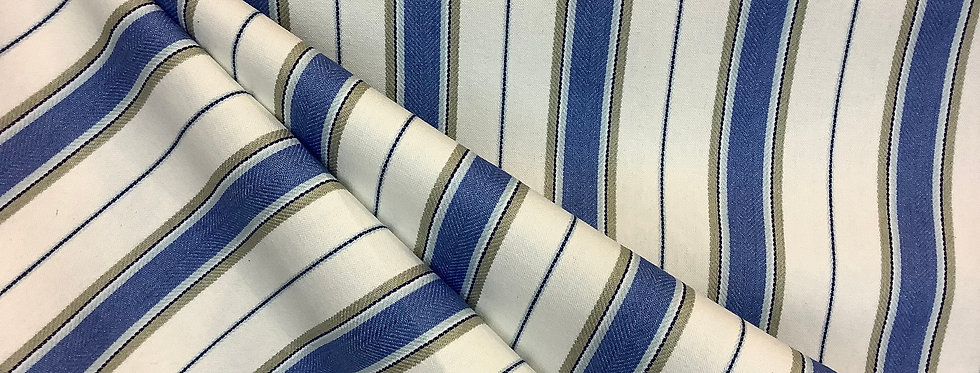 Blue Lapis Stripes - Blue Lavender - Gray Accents - Up the Roll Stripes