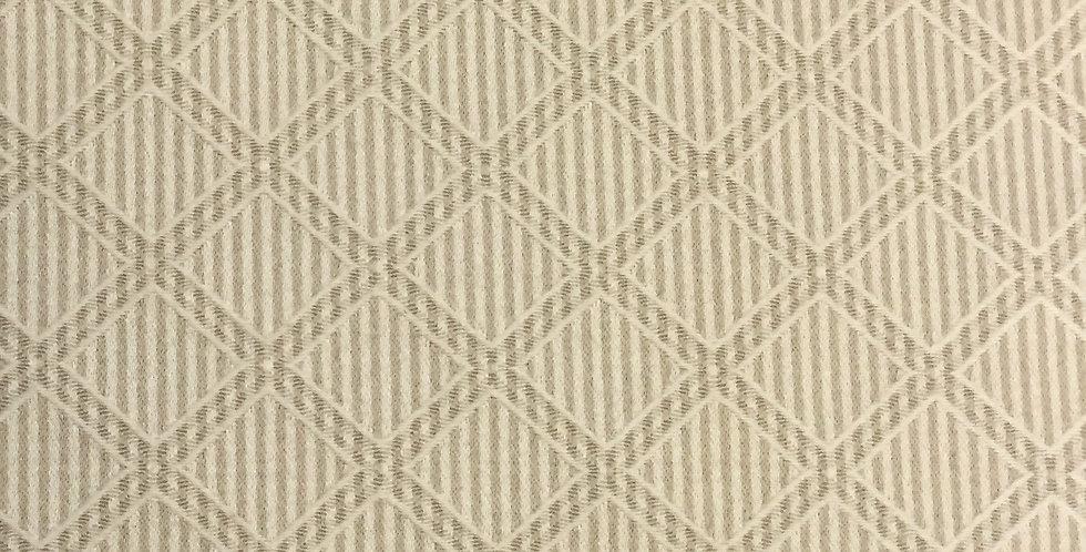 Taupe and Cream Diamond Pinstripe