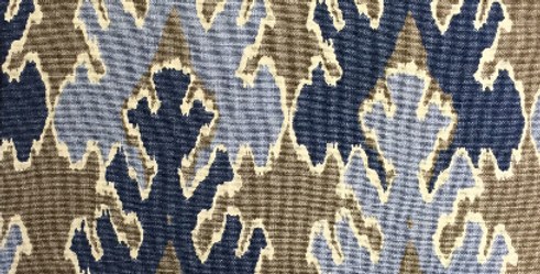 Groundworks - Blue and Gray Ikat