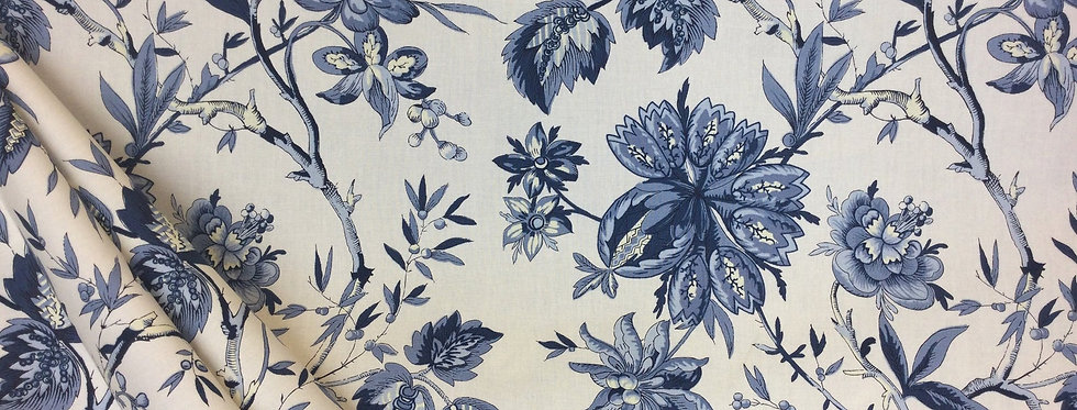 Felicite Indigo - Floral - Rich Navy Floral - French Country Inspired