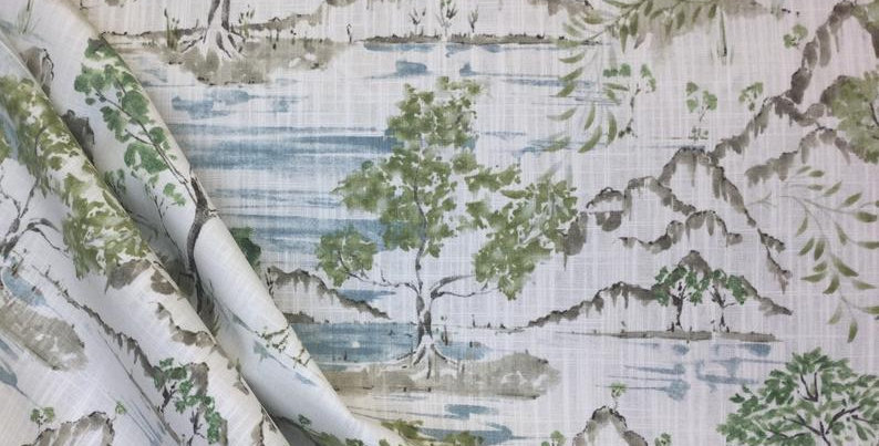 Hikaru - Willow - Covington - Trees - Chinoiserie Inspired Fabric