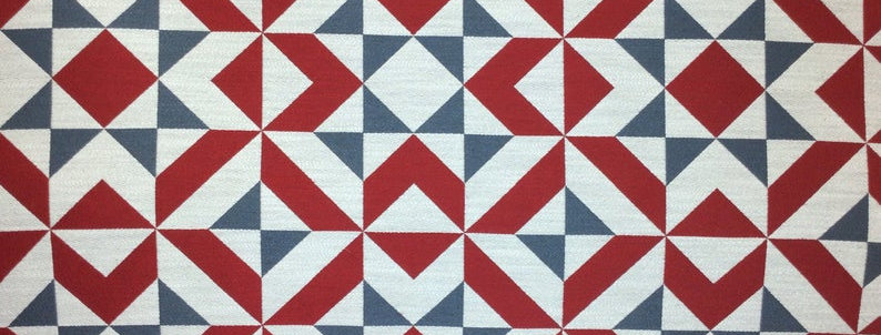 Americana - Patches Red White and Blue - Geometric