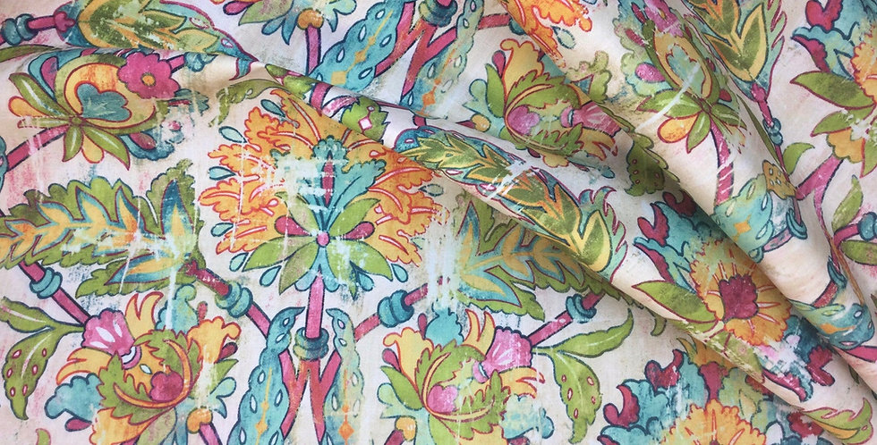 Hermes - Confetti - Covington - Vibrant Damask Fabric - Playful Multicolors