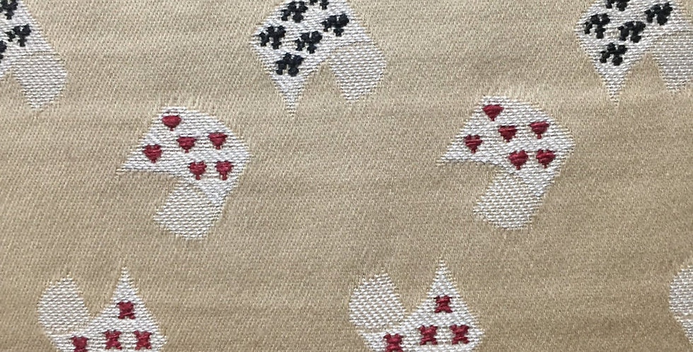 Card Game - Billiard Room - Gold, Red, and Black - Upholstery Fabric by the Yard