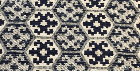 Blue Geometric - Hexagons - Tribal