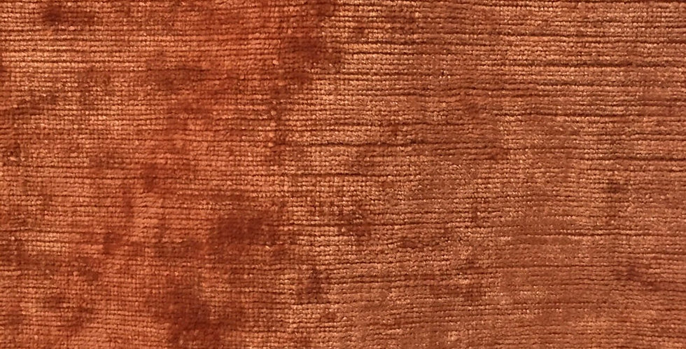 Solid Burnt Orange Chenille