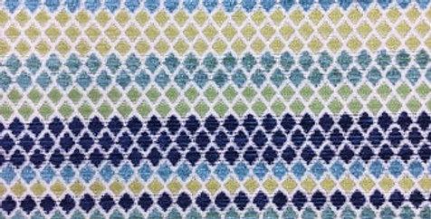 Tiny Diamond Upholstery Fabric - Peacock