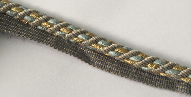 Baby Blue - Gold - Taupe - Lip Cord