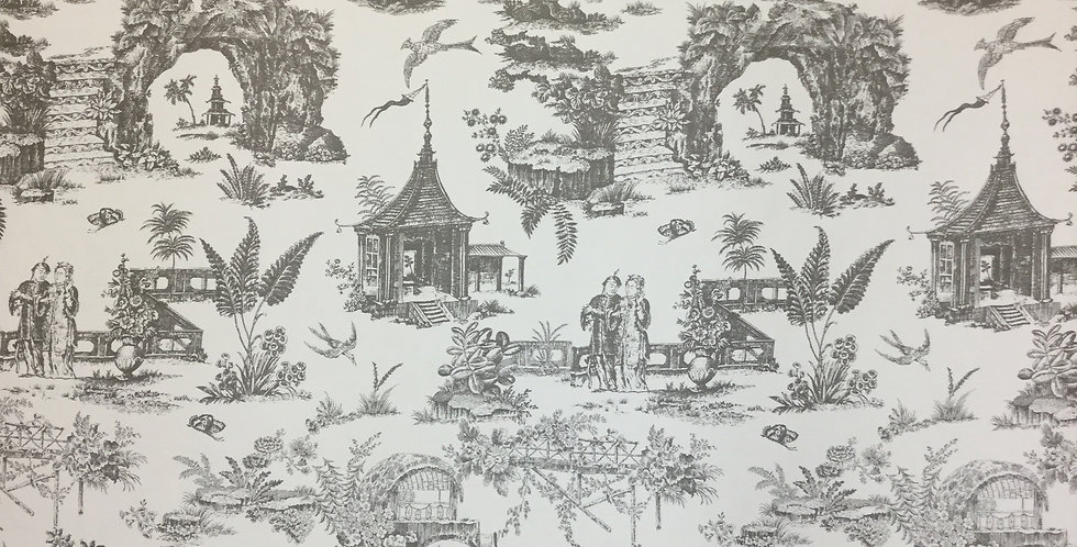 Neutral Asian Toile