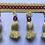 Thumbnail: Yellow Tassel Fringe - Pink Beads