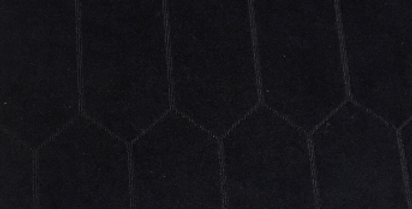 R-Rowen Navy - Velvet Hexagons