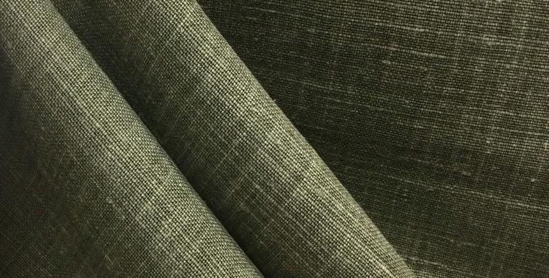 Sahara Dune - Green - Drapery Fabric - Linen