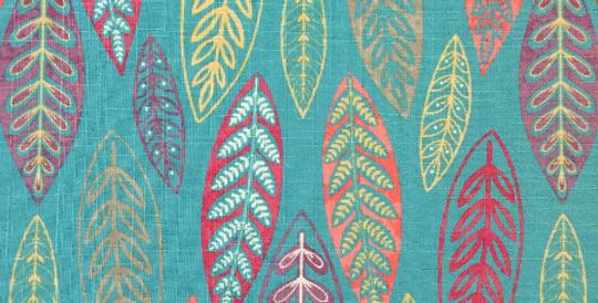 Aqua - Multicolor Leaves - Pink