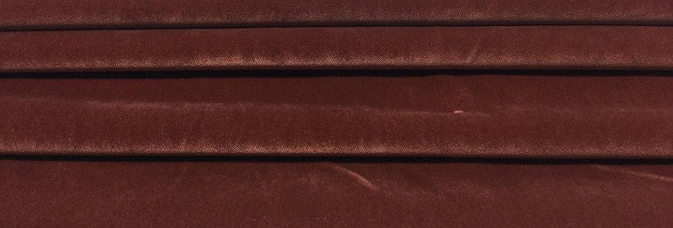 Burnt Sienna Velvet - Soft Texture Velvet - Velvet Finish - Custom Cut Fabric
