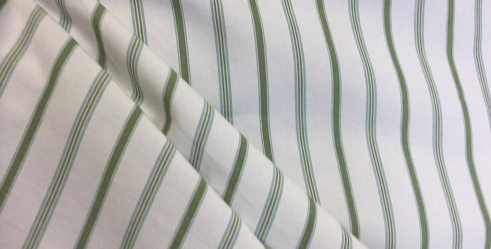 Elementary Green & Blue Stripes - Up the Roll Stripe - Accent Pillows - Cushions