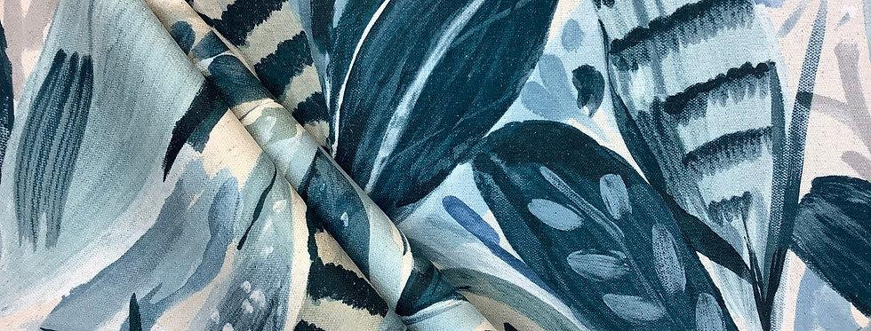 Frond - Midnight - Banana Leaves - Navy - Pastel Green - Pastel Blue