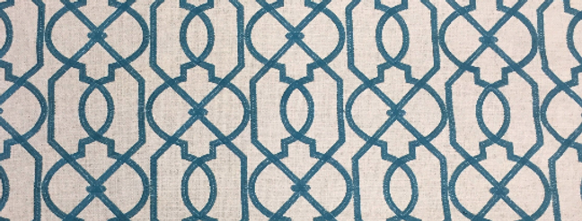 Bailey - Blue Woven Geometric