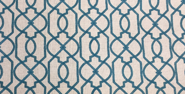 Bailey - Blue Woven Geometric