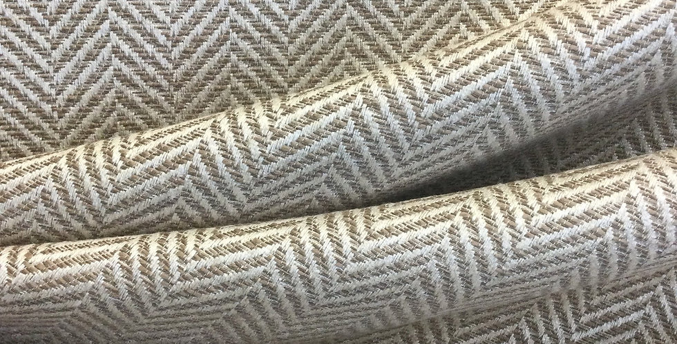 Neutral Herringbone - Cream Neutrals - Herringbone Fabric