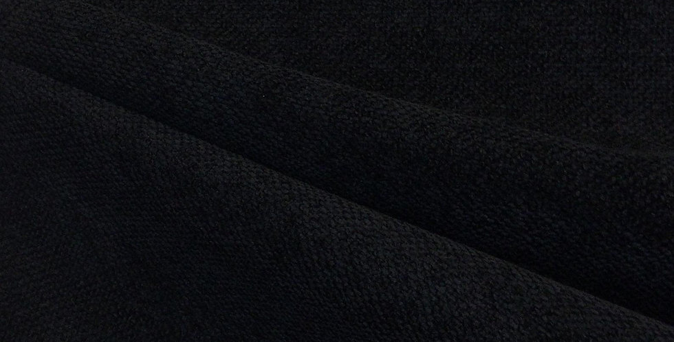 Jet Black Woven Upholstery Fabric - Soft Upholstery - Black Pillow Covers