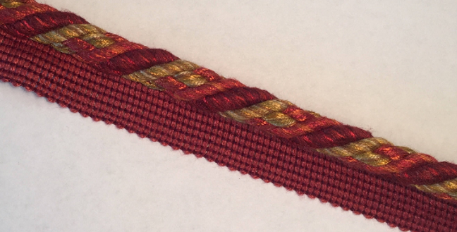 Red With Mixed Yellows Lip Cord